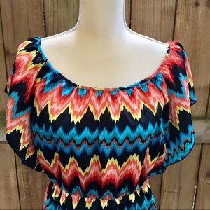 Dresses & Skirts - 🆕 6 Degrees Multicolored Abstract Dress EUC